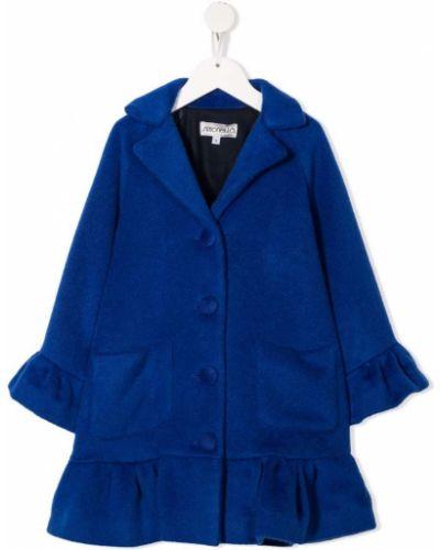 Niebieski płaszcz wełniany Simonetta