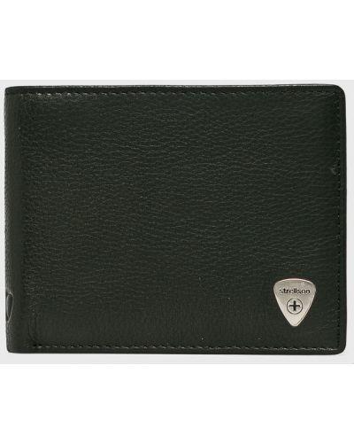 Черный кошелек кожаный Strellson