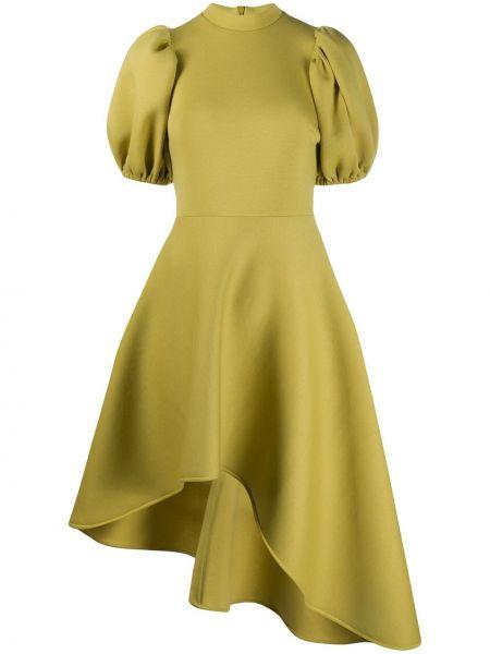 Платье миди с короткими рукавами - желтое Beaufille