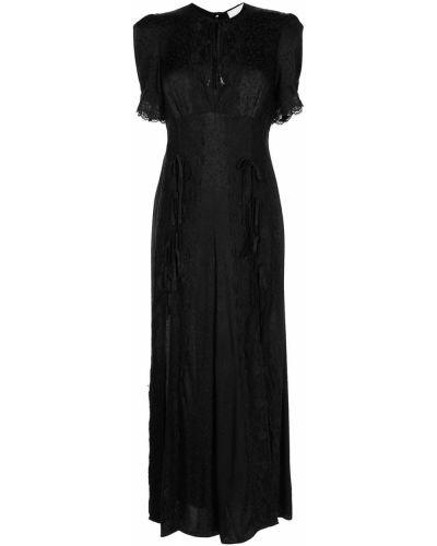 Кружевной черный комбинезон с короткими рукавами Alice Mccall