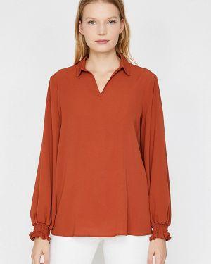 Блузка с длинным рукавом красная Koton