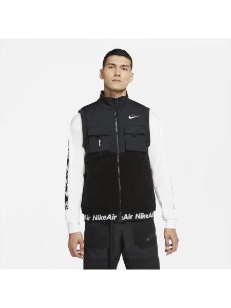 Kamizelka prążkowany z kołnierzem rzep Nike