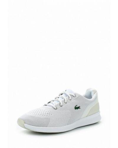 Белые кроссовки беговые Lacoste