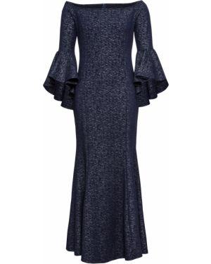 Вечернее платье с открытыми плечами с оборками Bonprix