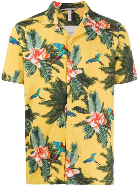 Koszula krótkie z krótkim rękawem prosto z nadrukiem Sun 68