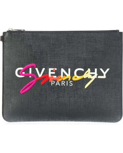 Bawełna srebro torba sprzęgło z haftem z kieszeniami Givenchy
