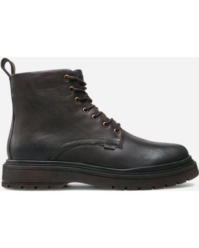 Текстильные ботинки - коричневые Badura