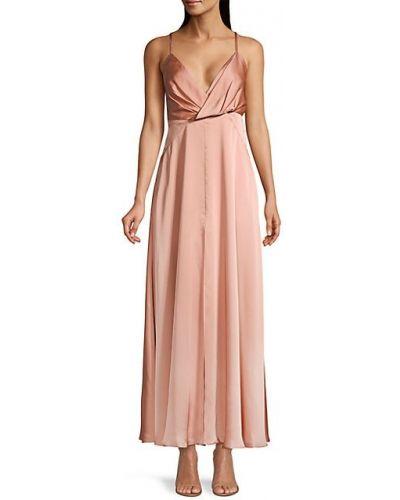 Сатиновое теплое платье с декольте Fame And Partners