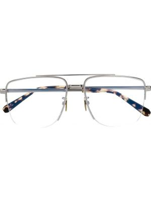 Серебряные солнцезащитные очки квадратные металлические Brioni