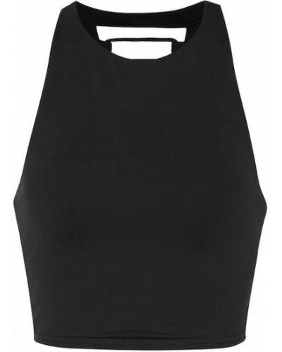 Czarny biustonosz z nylonu Alo Yoga