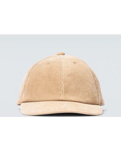 Хлопковая ватная с ремешком коричневая кепка Undercover