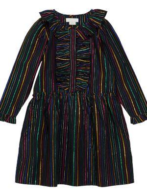 Платье в полоску - черное Stella Mccartney Kids
