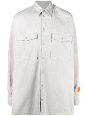 Klasyczna klasyczna koszula bawełniana z długimi rękawami Heron Preston