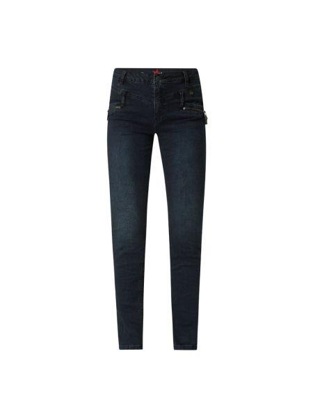 Niebieskie jeansy z wysokim stanem bawełniane Buena Vista