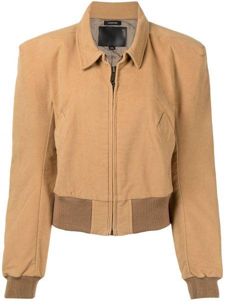 Коричневая куртка с воротником R13