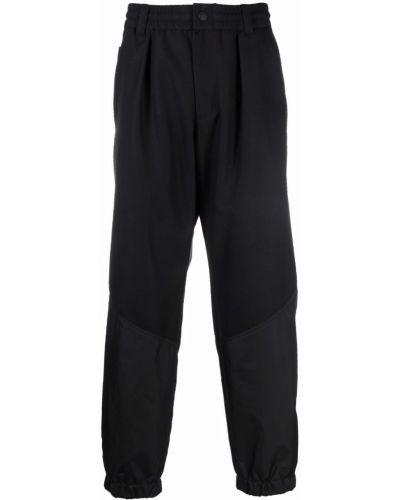 Czarne spodnie wełniane Moncler Grenoble