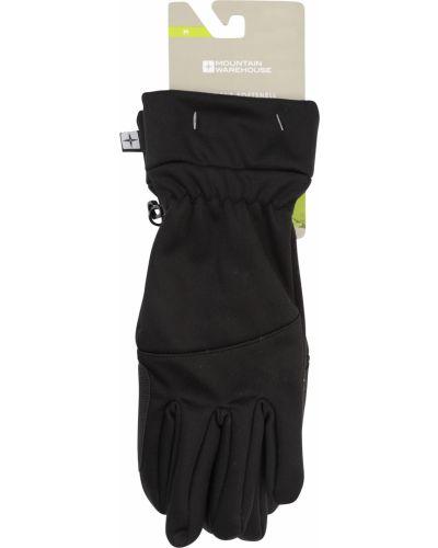 Czarne rękawiczki softshell Mountain Warehouse