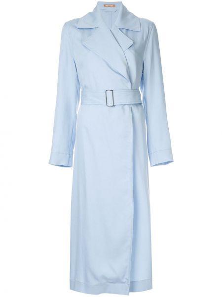Синий длинное пальто Nehera
