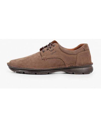 Коричневые кожаные туфли Valser