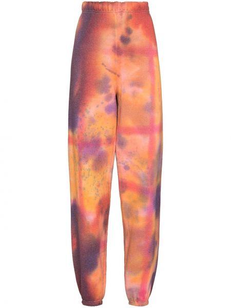 Spodnie bawełniane - pomarańczowe Collina Strada
