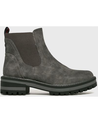 Сапоги на каблуке текстильные S.oliver
