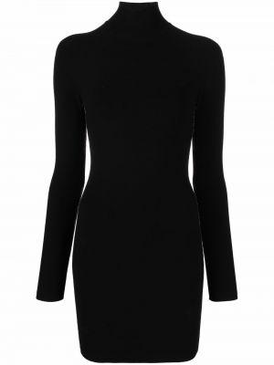 Черное платье макси в полоску Alexanderwang.t