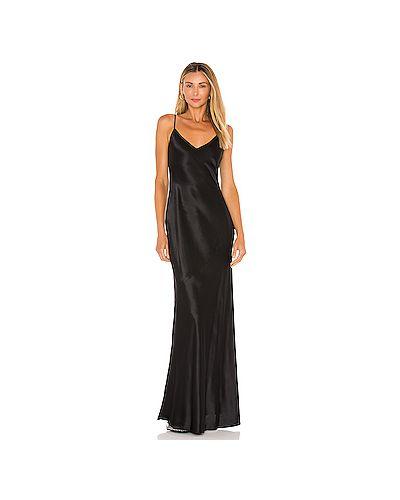 Черное платье на бретелях с подкладкой L'agence