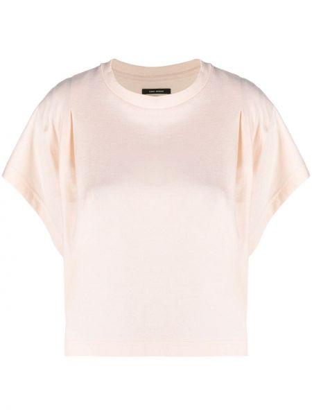 Хлопковая белая футболка с вырезом Isabel Marant