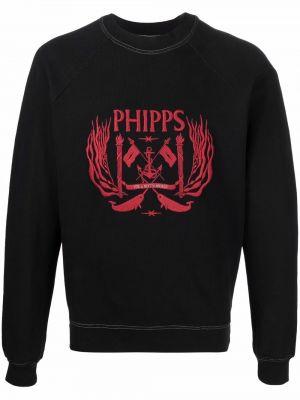 Czarna bluza z długimi rękawami Phipps