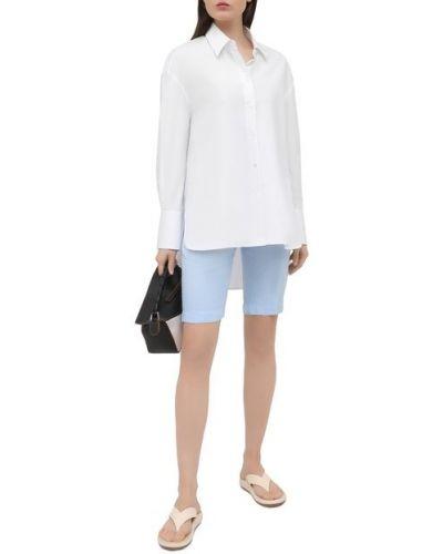 Льняные синие шорты 120% Lino