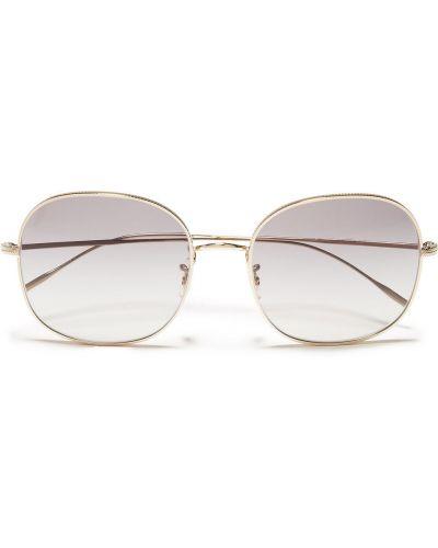 Солнцезащитные очки металлические - золотые Oliver Peoples
