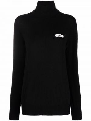 Черный джемпер с вышивкой Gcds