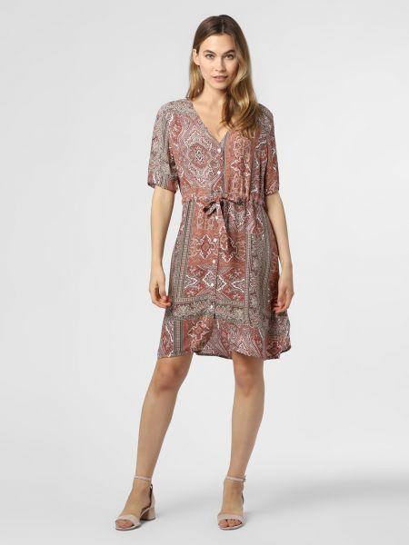 Sukienka z printem - czerwona Minimum