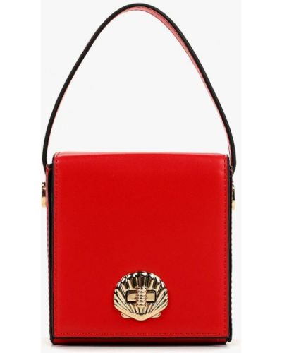 Кожаный сумка через плечо красная Topshop