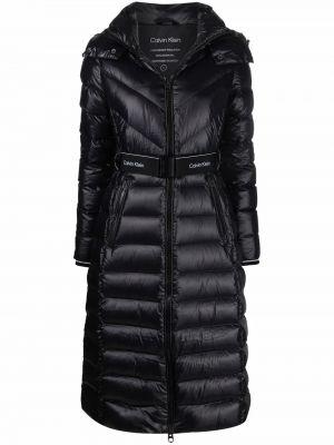 Полупальто с капюшоном - черное Calvin Klein