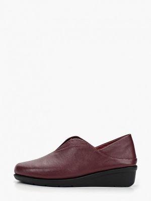 Кожаные туфли бордовый Berkonty