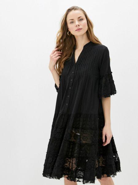 Платье прямое черное Fresh Cotton