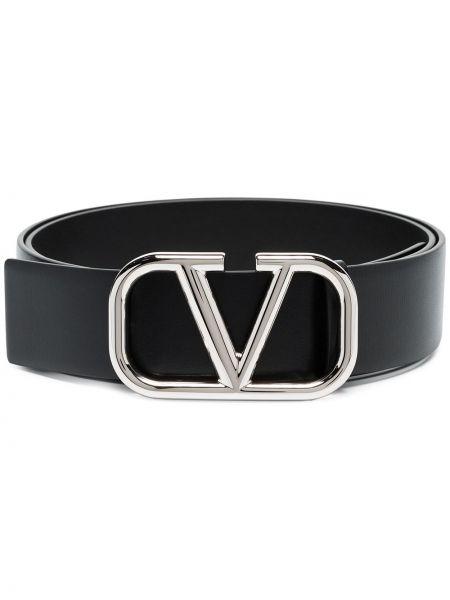 Pasek srebrny - czarny Valentino