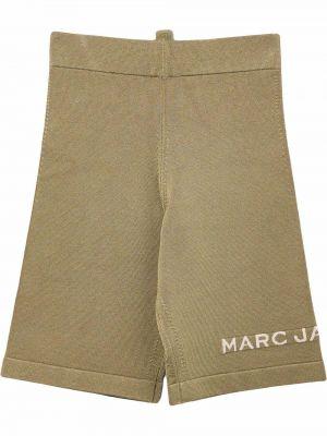 Коричневые шорты из вискозы Marc Jacobs