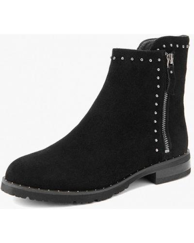 Ботинки на каблуке осенние черные Westfalika