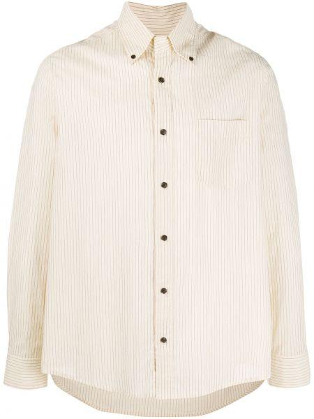 Koszula z długim rękawem klasyczna beżowy Nanushka
