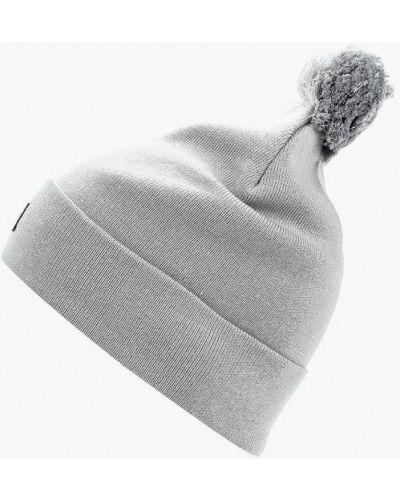 Серая шапка осенняя Nike