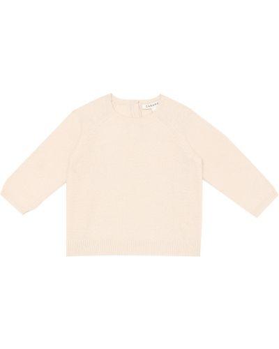Бежевый шерстяной теплый свитер Caramel