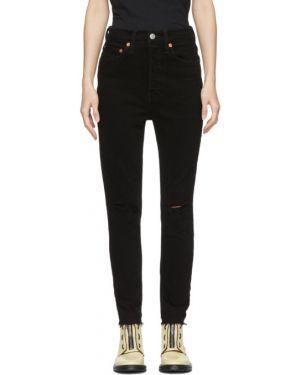 Укороченные джинсы слим фит стрейч Re/done
