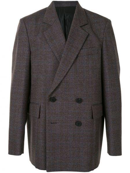 Коричневый пиджак на пуговицах с лацканами с подкладкой Wooyoungmi