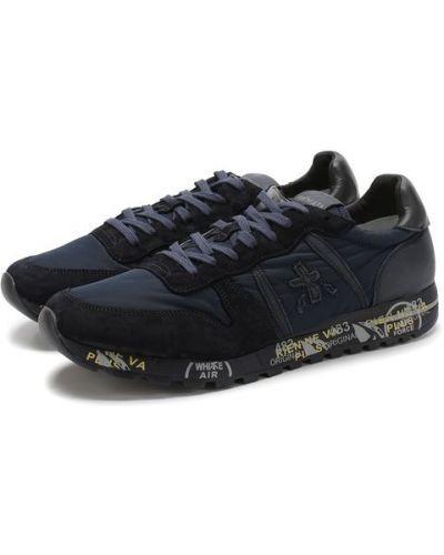 Кроссовки на шнуровке темно-синий Premiata