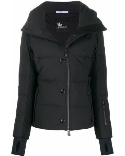 Черная стеганая куртка на молнии Moncler Grenoble