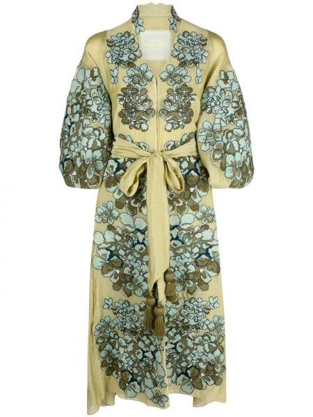 Шелковое платье - зеленое Yuliya Magdych