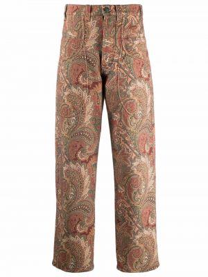 Фиолетовые брюки с принтом Etro