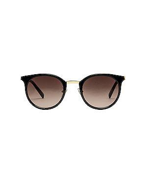 Черные солнцезащитные очки металлические Le Specs